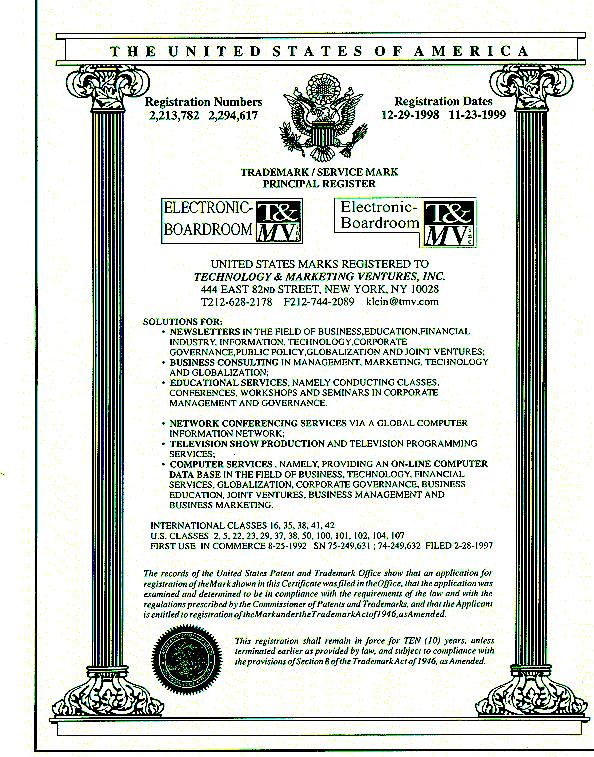 Registered trademark/servicemark uses
